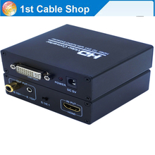 HDMI to DVI converter with audio HDMI to DVI+coaixal/Aux audio with power adapter