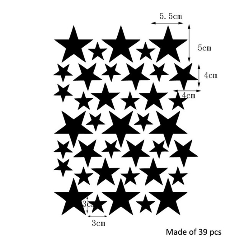 HTB1bHTHSpXXXXcPXVXXq6xXFXXXJ 39pcs Stars Pattern Vinyl Wall Art Decals For Kids Rooms