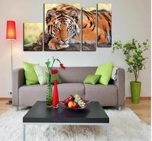 5D Full Diamond Embroidery Cross Stitch Tiger Picture Mosaic Diamond Kit 4pcs Birthday Gift diy Diamond Painting home Decoration