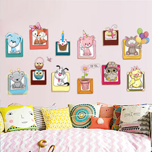New Small Animal Wall Sticker For Kid's Room Adesivo De Parede About Accessories On Bedroom Poster About Kindergarten Decoration(China)