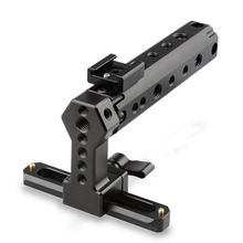 CAMVATE Top Handle QR Cheese Handle Grip with 100mm NATO Rail + Cold Shoe Mount Adapter for Digital Dslr Camera C1500