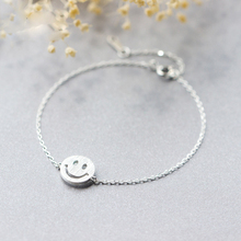 Trusta 925 Sterling Silver Fashion Jewelry Wire Drawing Smiling Face Bracelet 14.5cm For Gift Girls Lady Drop Shipping DS188(China)
