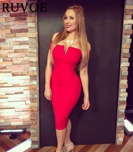 2016 dress designs sexy strapless red white nude bodycon knee length bandage cocktail party dress ,tube women sexy dress SY-104