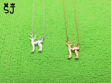 1PCS- N059 Bambi Deer Necklace Cute Animal Moose Fawn Alpaca Reindeer Antler Necklace Snape and Lily Patronus Necklaces