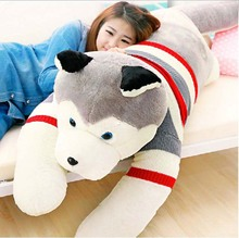 Real Pictures! 71'' / 180 Huge Plush Soft Stuffed Large Emulational Animal Husky Dog Toy, Free Shipping(China)