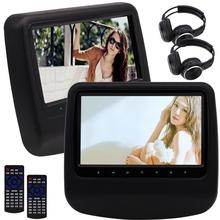 Twin Car PC Headrest DVD Player Car DVD Player Headrest Monitor Backseat Support IR DVD USB/SD FM entertainment PC IR HeadPhone