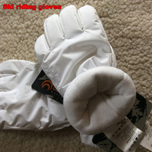 high quality winter Ski gloves Cold waterproof Windproof winter gloves Outdoor sports Riding skate White gloves(China)