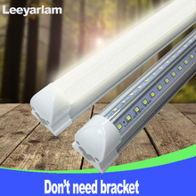 A+ LED T8 Integrated Tube Bulb 20w 60cm 110v 220v 85-265v Chip Kitchen Light Lamp Clear Cover Double 2835 Free Shipping 2ft