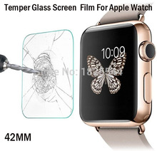 2pcs/lot 2017 New OEM Ultra Thin 9H Tempered Glass Screen Film Glass Screen Protector For iWatch Apple Watch 42mm