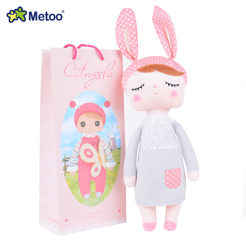METOO Rabbit Angela Dolls Girl Wear Skirt Plush Toys Stuffed Gift Toys for Kids Girl Bunny Dolls18*4 for Gifts<br><br>Aliexpress