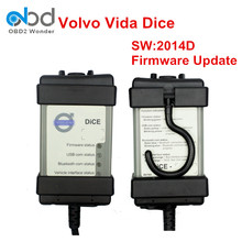 DHL Free Shipping For Volvo Dice 2014D Full Chip Diagnostic Tool For Volvo Dice Pro Vida Dice Firm Update With Multi-Language