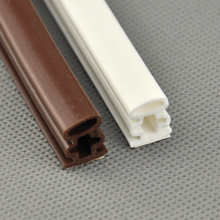 10*12mm 6M Silicone rubber sealing strips crash soundproof door thong strip security door/ window sealed slot type I -shaped(China)