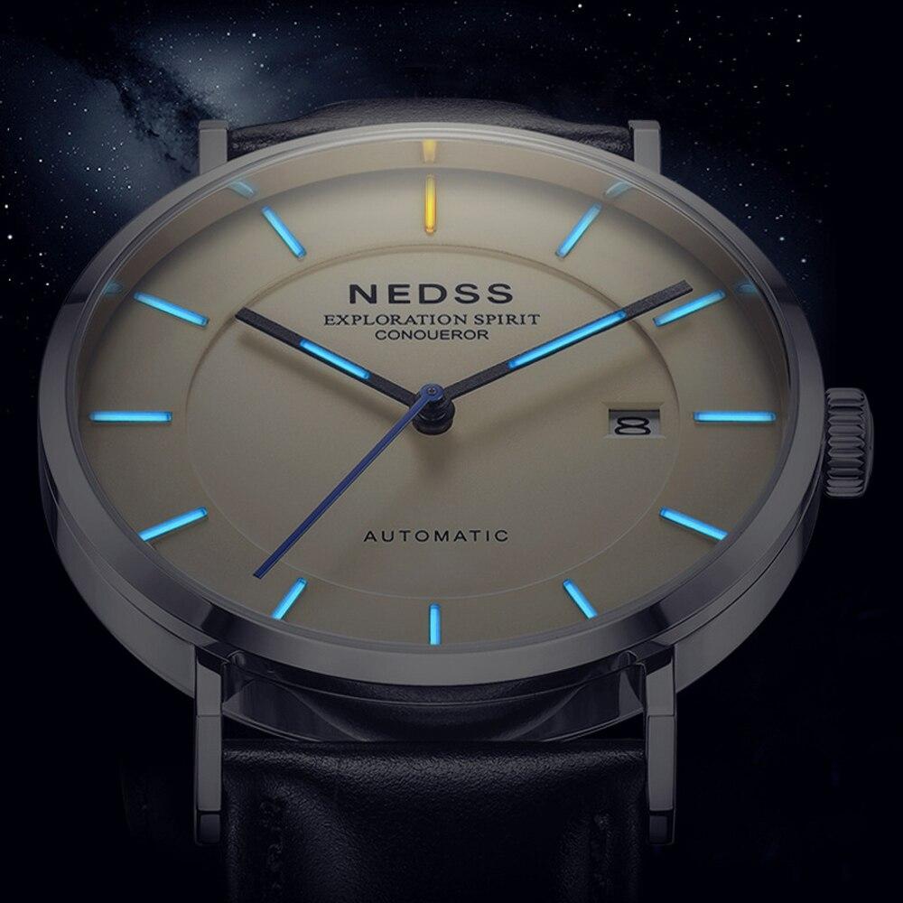 Luxury Brand watch tritium watch Miyota 9015 automatic Watches ltalty genuine leather steel wristwatch Luminous DW styles watch