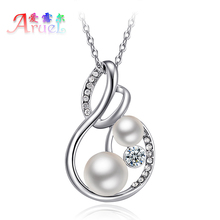 ERLUER collier Simulated-pearl jewelry channel necklace for women fashion colar crystal girls necklaces & pendants gifts