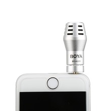BOYA BY-A100 3.5mm TRRS Connection Mini Omni Directional Condenser Microphone for iphone for iPod Touch(China)