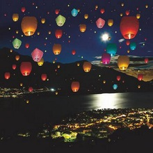 1 Pc Multi-Color Party Supplies Wedding Decoration Kong Ming Balloons Wishing Lanterns Flying Light Chinese Sky Lantern
