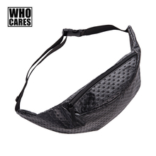 2017 New Waist Pack Fashion Black Dots Pattern Pouch Bags for Men Casual Women Waist Bag Tide Leather Belt Bag Free shipping(China)