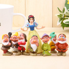 Snow White and The Seven Dwarfs Happy Hand Office Earners Doll 8pcs/set Micro Landscaping Garden Decoration Christmas Gifts