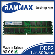LO-DIMM 800Mhz PC2-6400 Desktop Memory Ram1GB DDR2 240-pin/CL6/1.8v high compatible with all brand motherboards of PC computer
