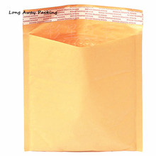 10pcs/LOT Yellow Colored Manufacturer Kraft bags bubble mailers padded envelopes paper mailer MAILING bag(China)