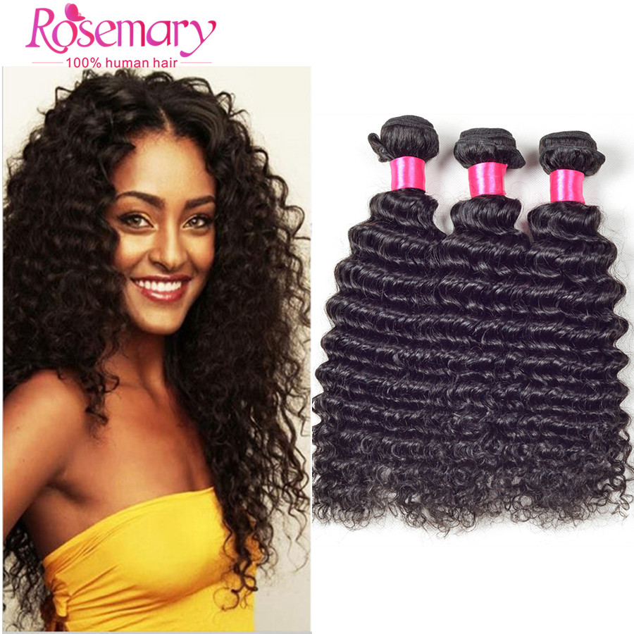 Brazilian Virgin Hair 7A Deep Wave Curly Weave Human Hair 100 Curly Virgin Hair Extensions Human Weave 3 Bundles Ali Moda Hair<br><br>Aliexpress