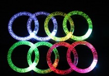 Light Up LED Flashing Rave Multicolor Acrylic Bracelets Wristbands for Party events clubs djs