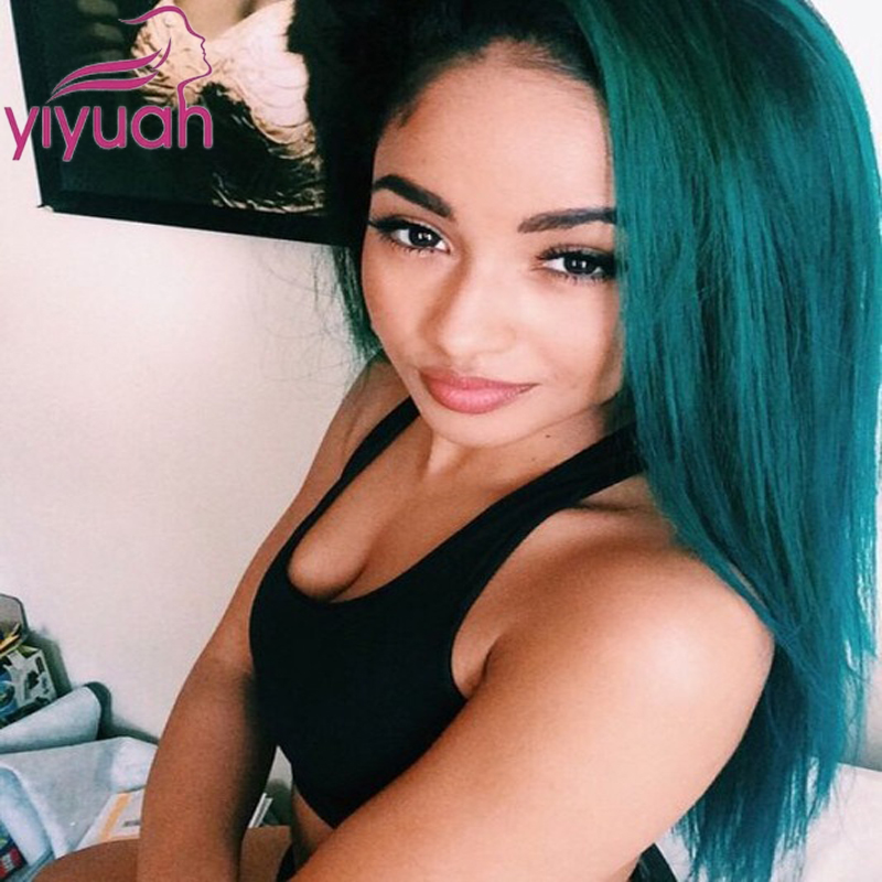 Malaysian Hair Blue Wigs Synthetic Lace Front Wigs Ombre Color #1B To Blue Heat Resistant Synthetic Hair Wigs Fast Shipping<br><br>Aliexpress