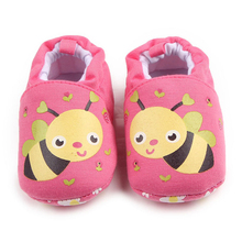 0-1 Year Baby Girl Boy Floral Cartoon Bee Zebra First Walkers Warm Infant Shoes Booty Crib Babe Girls Toddler Shoes P25(China)