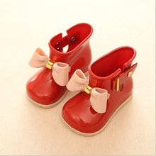 11.8-19.8cm girls rain Boot mini sed Bow candy smell baby todder little adorable girls fashion boots non slip water shoes Sapato
