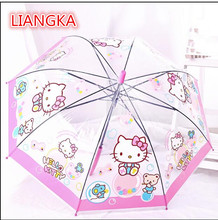 LIANGKA Upscale creative pink pig kid's umbrella of children's umbrellas of girls and girls(China)
