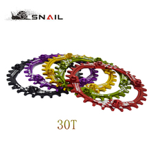 SNAIL Bicycle Crank 104BCD Cycling Round 30T Chainring Narrow Wide Ultralight 7075-T6 MTB Bike Chainwheel Circle Crankset Plate