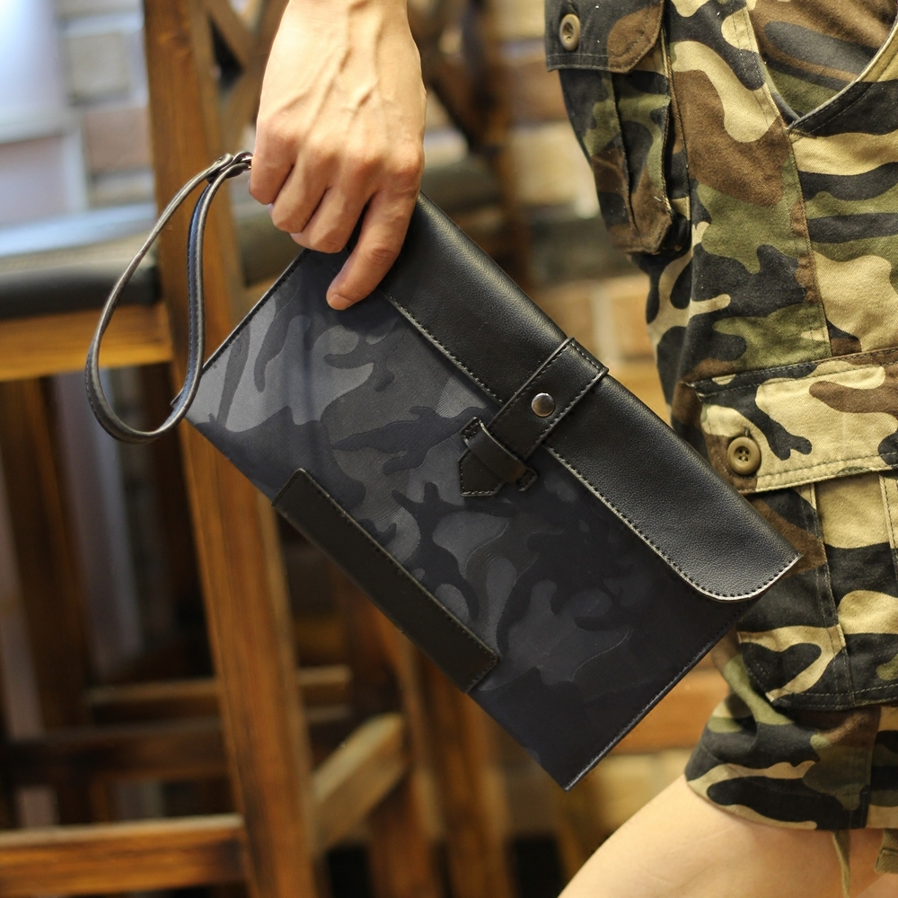 New Mens Fashion Style Waterproof Oxford Cloth Wallet Male Large camouflage Clutch Purse Casual Wallet with Strap for Men<br><br>Aliexpress