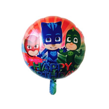 1 pieces 18 inches PJ MASKS foil balloons kids toys superman globos birthday party decorations kids air balloon party supplies(China)