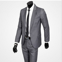 New men's suit factory custom lapel's self-timer photo of the professional suit of the groom suit custom(China)