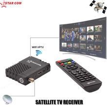 STARCOM ARABIC IPTV Satellite TV Receiver DVB-S2 GLOBAL USE MINI TV BOX YouTube WiFi Included , USB Media Player(China)