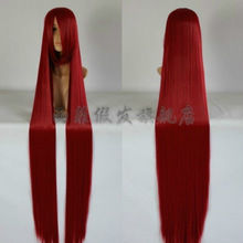WOW perruque Girls 60 inch Baby Cos New Extra Long Dark red Cosplay Wig - 60 inch High Temp 150cm Heat Resistant Hair Wigs<br><br>Aliexpress
