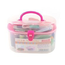 1Pcs Metal Needle Thread Reel Thimble Ruler Tape Pin Travel Sewing Kit Organizer Storage Container Box(China)