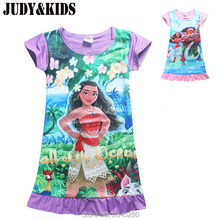 Dresses For Girls Pajamas Night Dress Sea Cartoon Girls Nightgown Kids Nightdress Girl Princess Summer Dress Children Nightgowns(China)