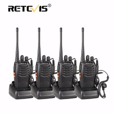 4pcs Portable Walkie Talkie Retevis H777 16CH UHF Ham Radio Hf Transceiver 2 Way cb Radio Communicator Walk Talk Walkie-Talkie(China)