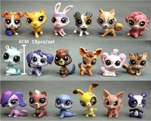 LPS Toy 18Pcs Pet Shop Animals Cats Kids Action Figures PVC LPS Toys for Children Birthday/Christmas Gift