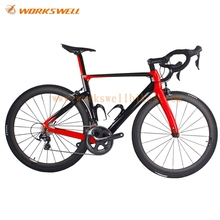 Aero full carbon Complete Road Bike with with 50mm Clincher Wheelset 5800 11 Speed Groupset(China)