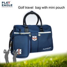 Travel Appreal Golf Boston Bag with Separate Shoes Area Waterproof Nylon Golf Clothing Hand Bag with Mini Golf Pouch Golf Bag