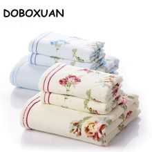 3PC Flower Printed High Quality Cotton Towel Set Face Towels Bath Towel For Adults Washcloths Hotel Shower Towels Business Gifts