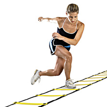 Hot Football Training Straps Durable Nylon Ladder 9 Rung 16.5 Feet 5M Agility Ladder for Football Speed Training Tools(China)