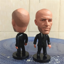 Soccerwe 2017 Season 2.55 Inches Height Football Coach Dolls La Liga RM Zinedine Zidane Figure for Souvenir Gift Black Suit(China)