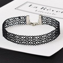N246 Chokers Necklaces Lace Tattoo Gothic Sexy Women Crochet Necklace Collares Fashion Jewelry Bijoux Colar 80s 90s Promotion
