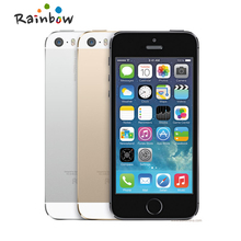 Original iPhone 5s Unlocked Model A1457 16GB / 32GB ROM 8MP camera 1136x640 pixel WIFI GPS Bluetooth Cell phone multi language