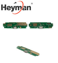 Heyman Flat Cable for Xiaomi Redmi 4A Cell Phone (microphone, charge connector with components charging board) Free shipping(China)