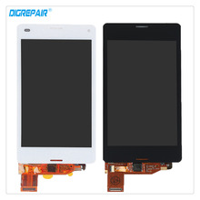 "4.3"" Black/White For Sony Xperia Z3 mini Compact D5803 D5833 LCD Display Digitizer Touch Screen Full Assembly Replacement Parts"