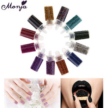 Magic Candy Color Caviar Beads Nail Art Mini Beads Pearls French Acrylic UV Gel Tips 3D DIY Decorations(China)